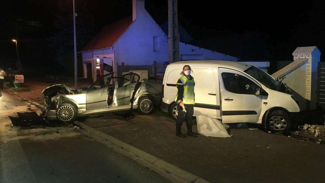 Violente collision à hauteur de la commune de Beutin.