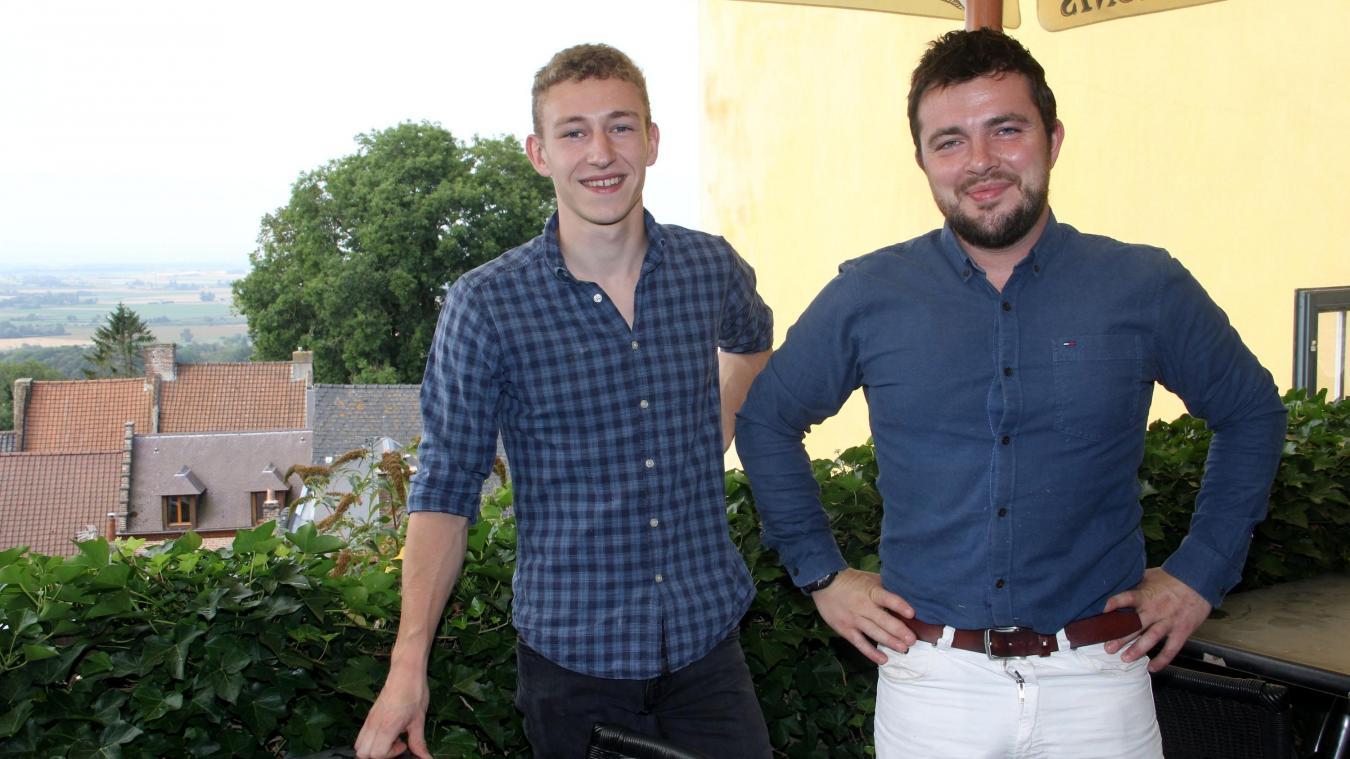 Paul Leroy-Demon et Clémentin Taeyhals, les nouveaux visages du Kasteel Hof.