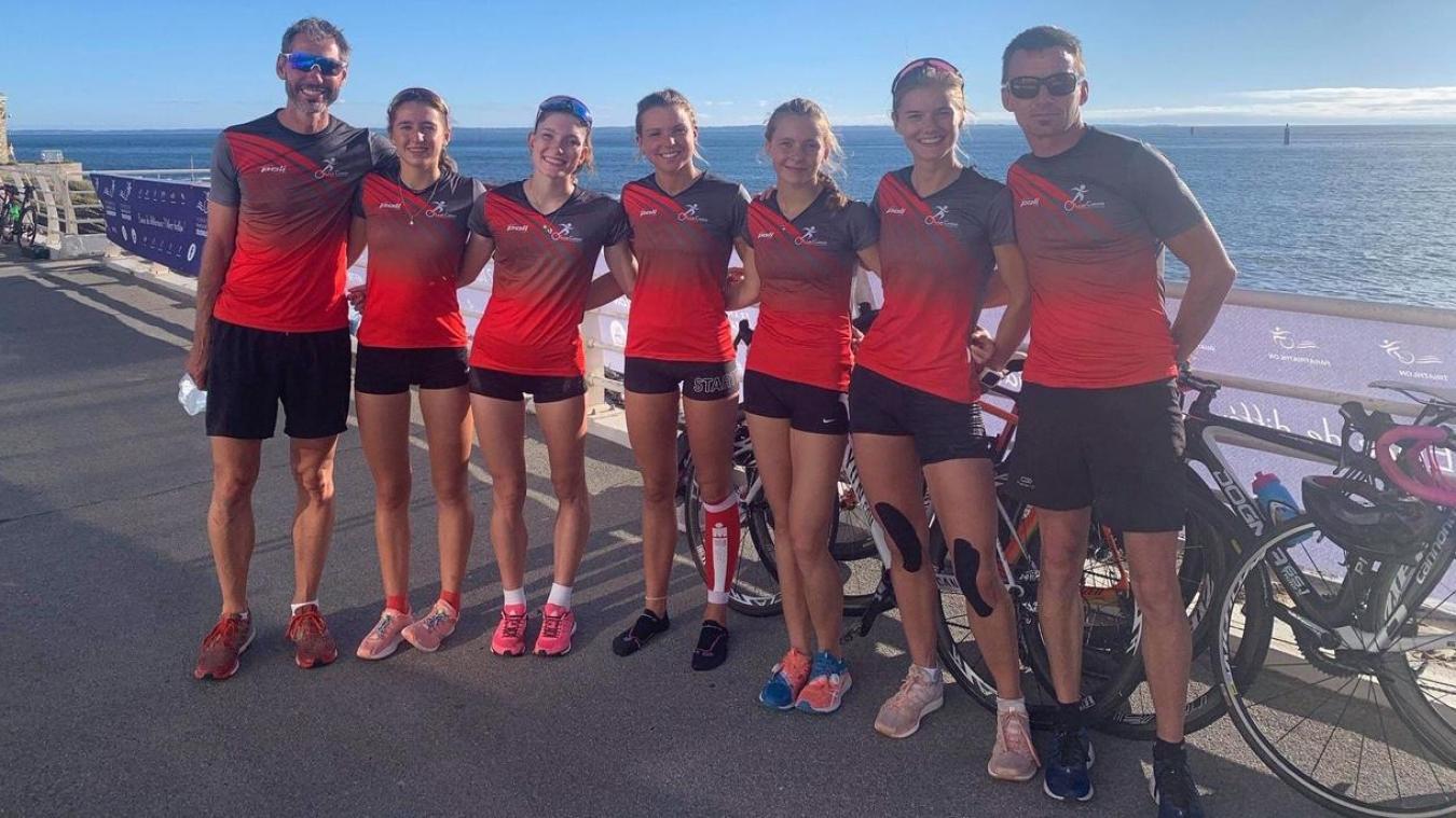 Les filles du Lys Calais Triathlon se classent sixièmes de la deuxième division
