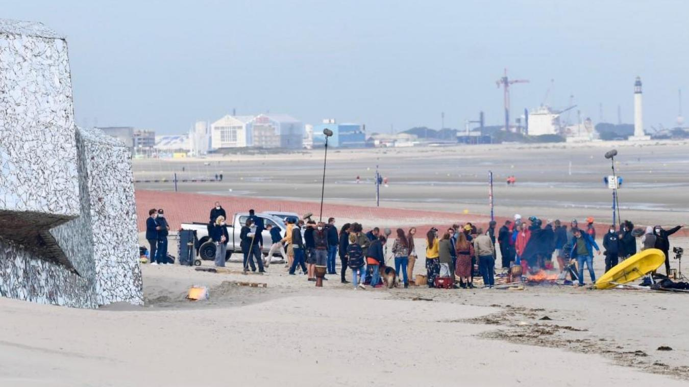 Cinq jours de tournage ont eu lieu à Dunkerque, dont plusieurs heures sur la plage. © Jean-Louis Burnod