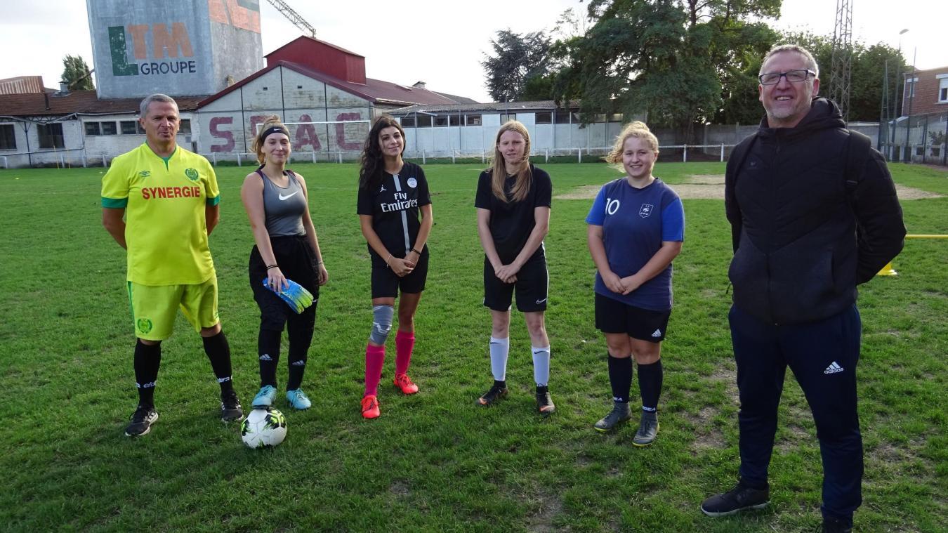 Les débutantes sont les bienvenues pour gonfler les rangs de l'équipe féminine.