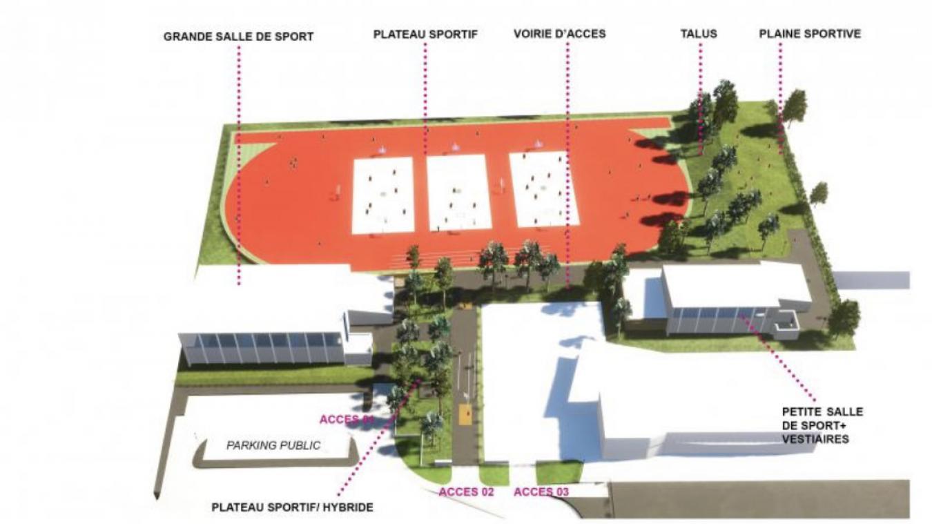 Le plateau se veut ouvert sur la ville.
