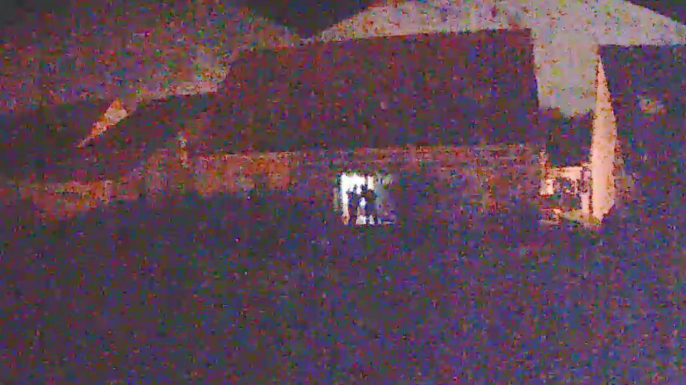 Les voleurs ont pénétré par la porte-fenêtre du jardin et ont été filmés par une caméra de surveillance privée...