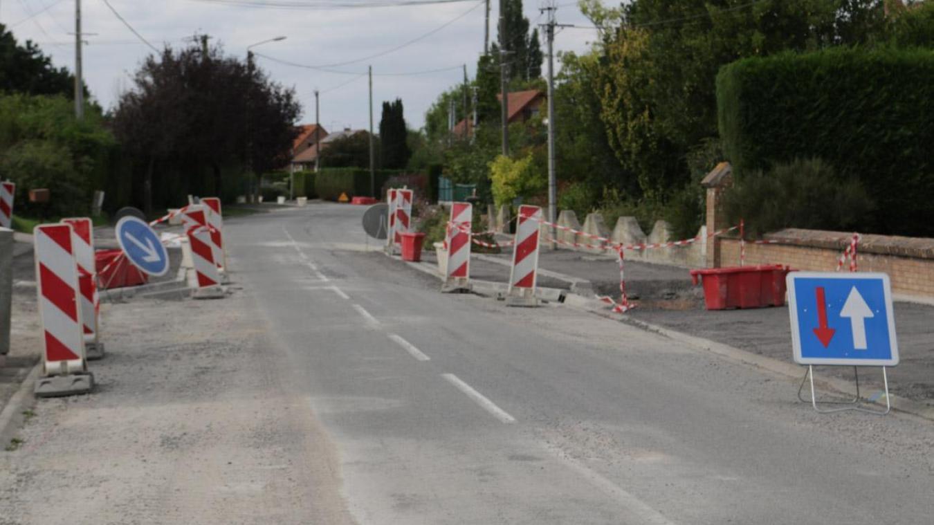 Trois mois de travaux sont entrepris rue de la Gendarmerie à La Gorgue.