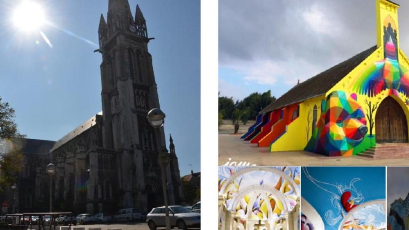 Les Paroisses de Calais ont publié des photos sur leur page pour repenser l'église Saint-Pierre (Capture d'écran Facebook).