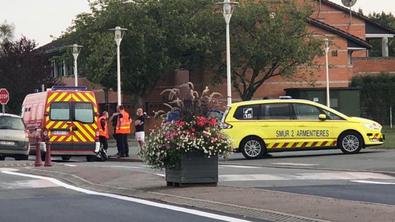 L'accident s'est déroulé rue Jacqueminemars à Estaires.