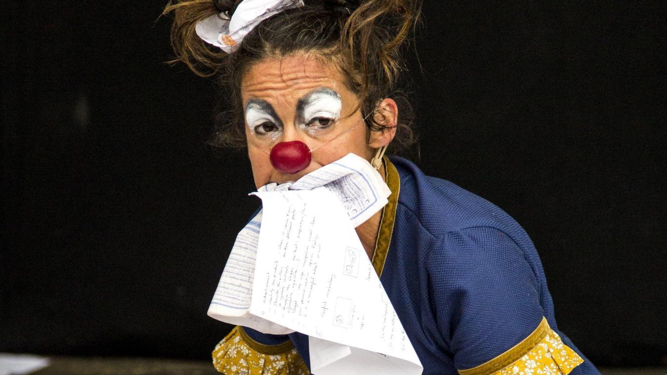 Jacqueline Verger, surprenante sur scène.