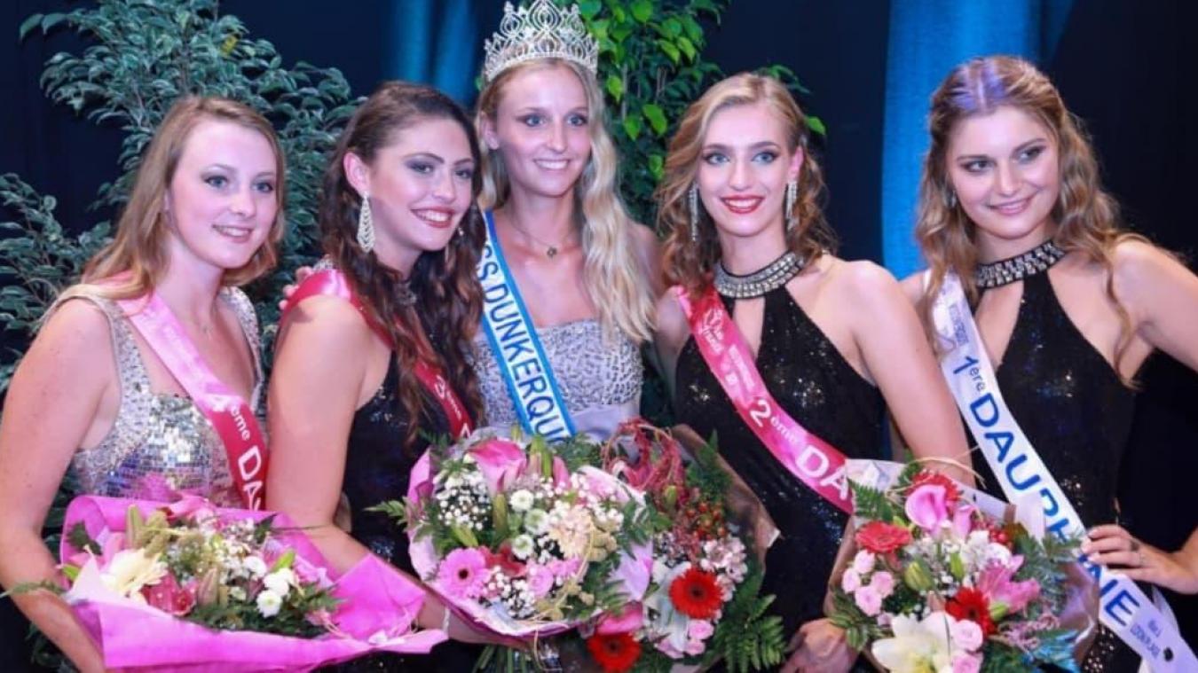 Noémie Galloo (au centre) a été élue Miss Dunkerquois samedi dernier, à Loon-Plage.