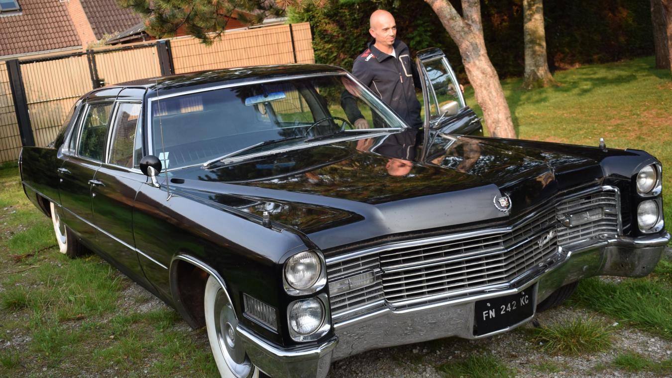 Samedi, Rodolphe exposera au public sa Cadillac Fleetwood de 1966, longue de... six mètres ! Elle ne risque pas de passer inaperçue, c'est sûr...