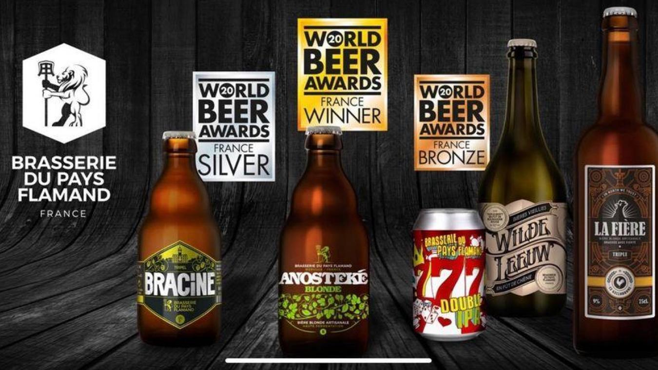 Les bières de la Brasserie du Pays flamands ont été primées à l'échelle nationale.