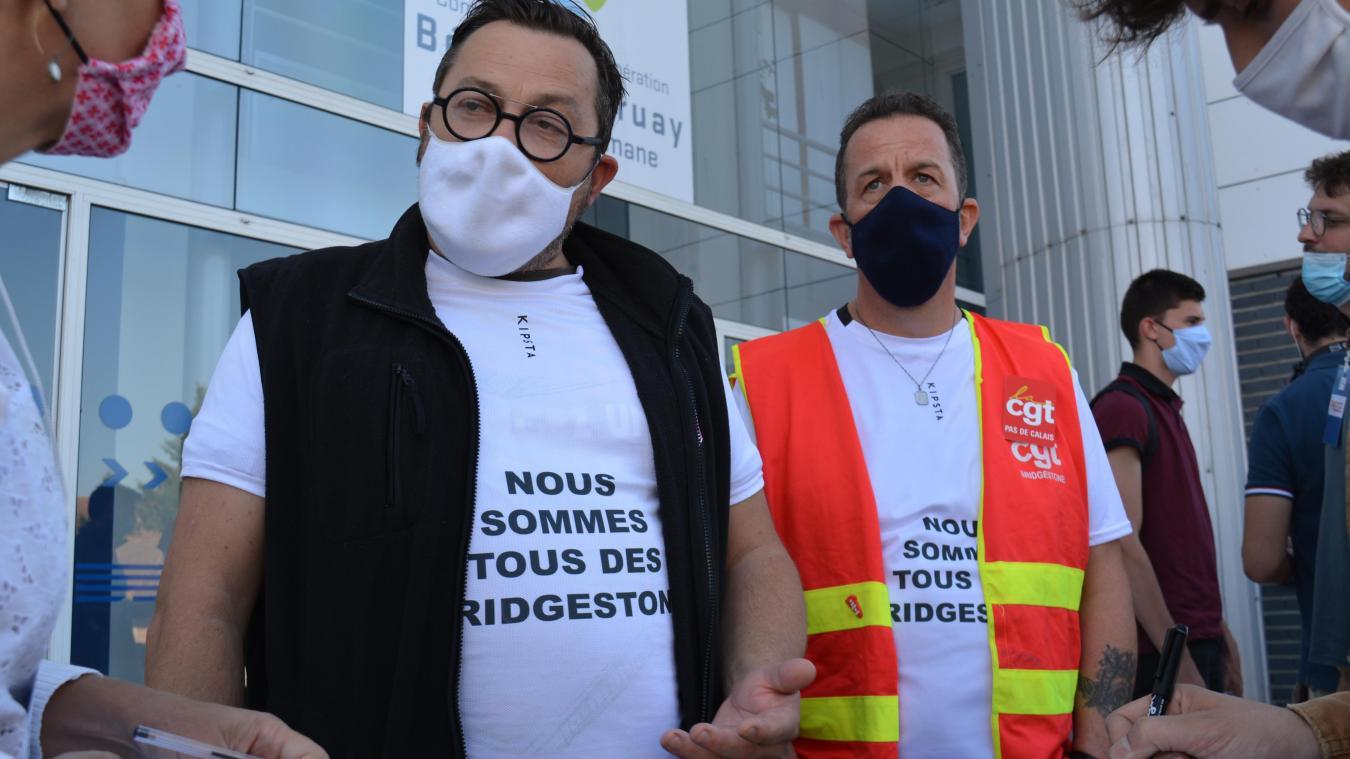 Bridgestone Béthune: les salariés et les élus face aux ministres