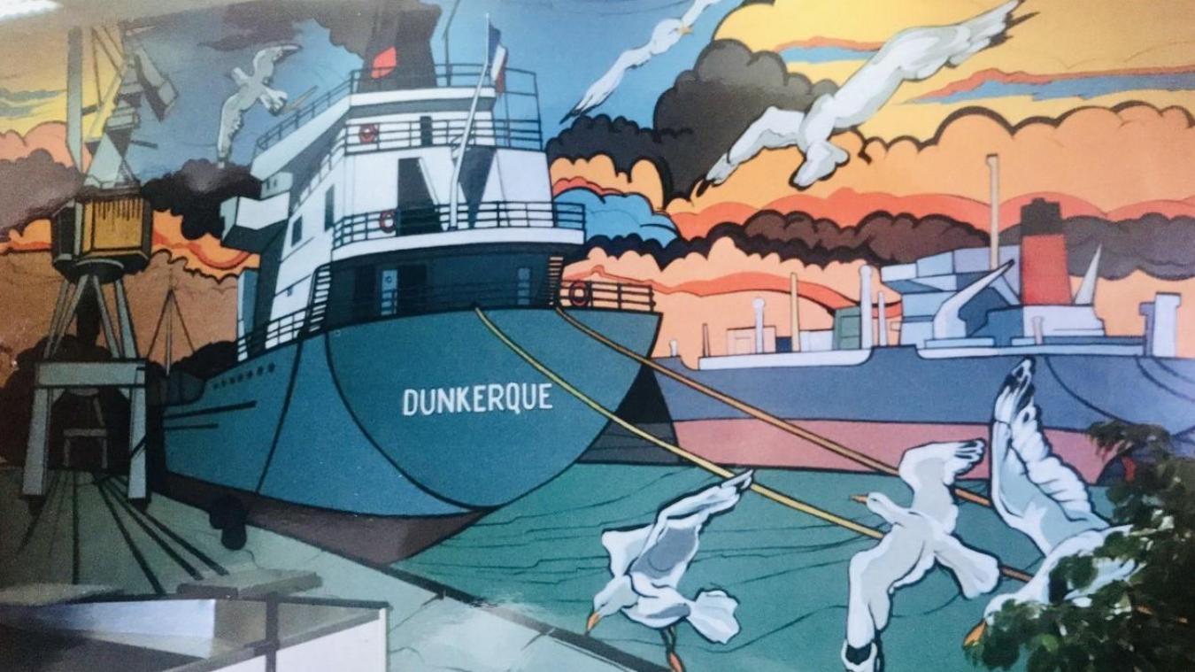 Les bateaux et les mouettes ont disparu des murs de Monoprix.
