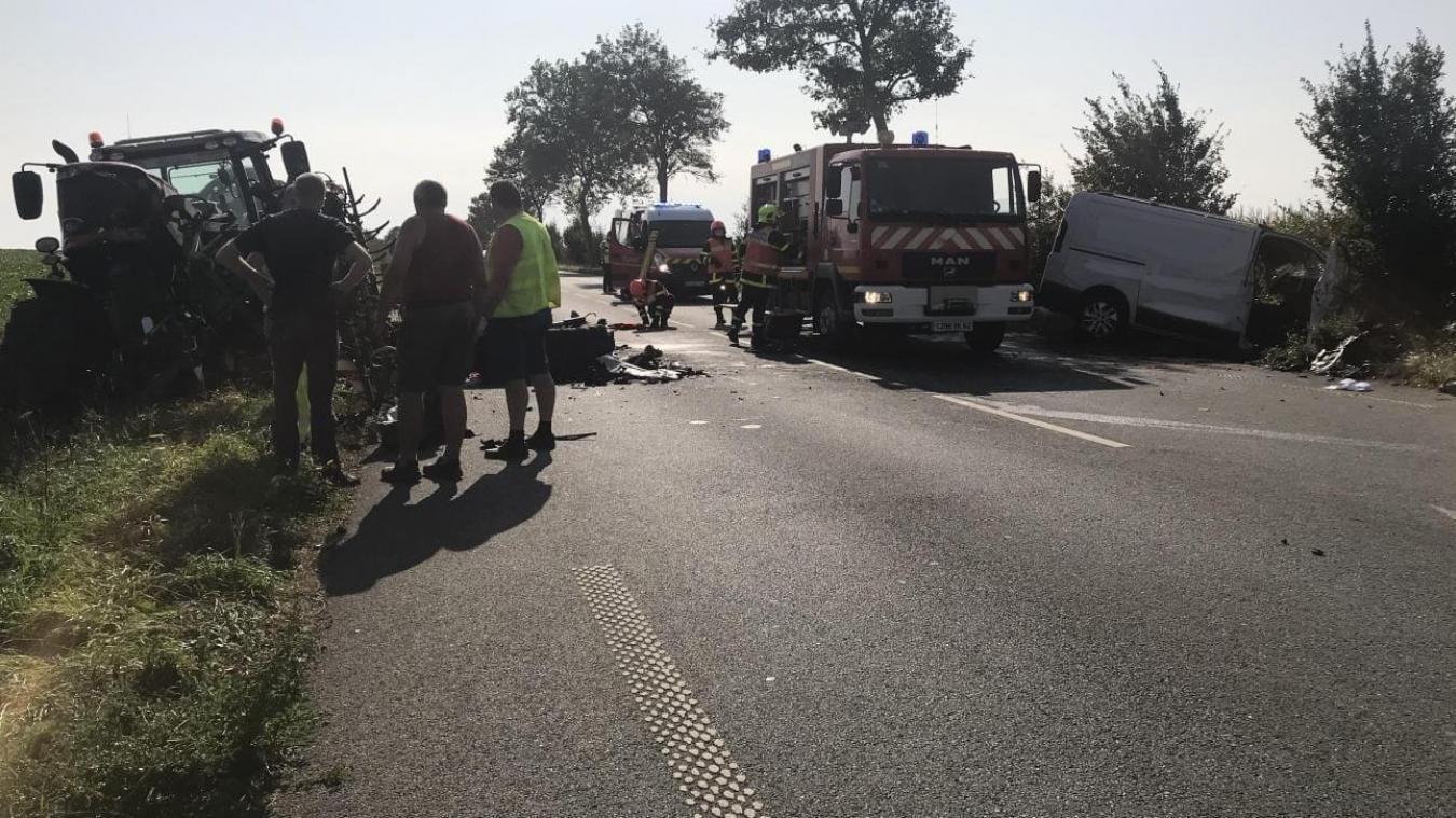 Sur les lieux de l'accident.