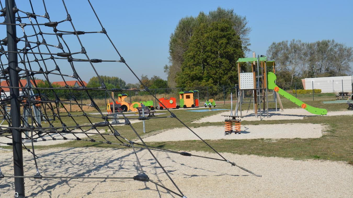 Les arbres seront plantés à proximité de l'espace de jeux.
