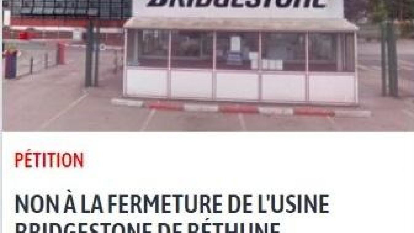 Une pétition en ligne pour dire non à la fermeture de Bridgestone à Béthune