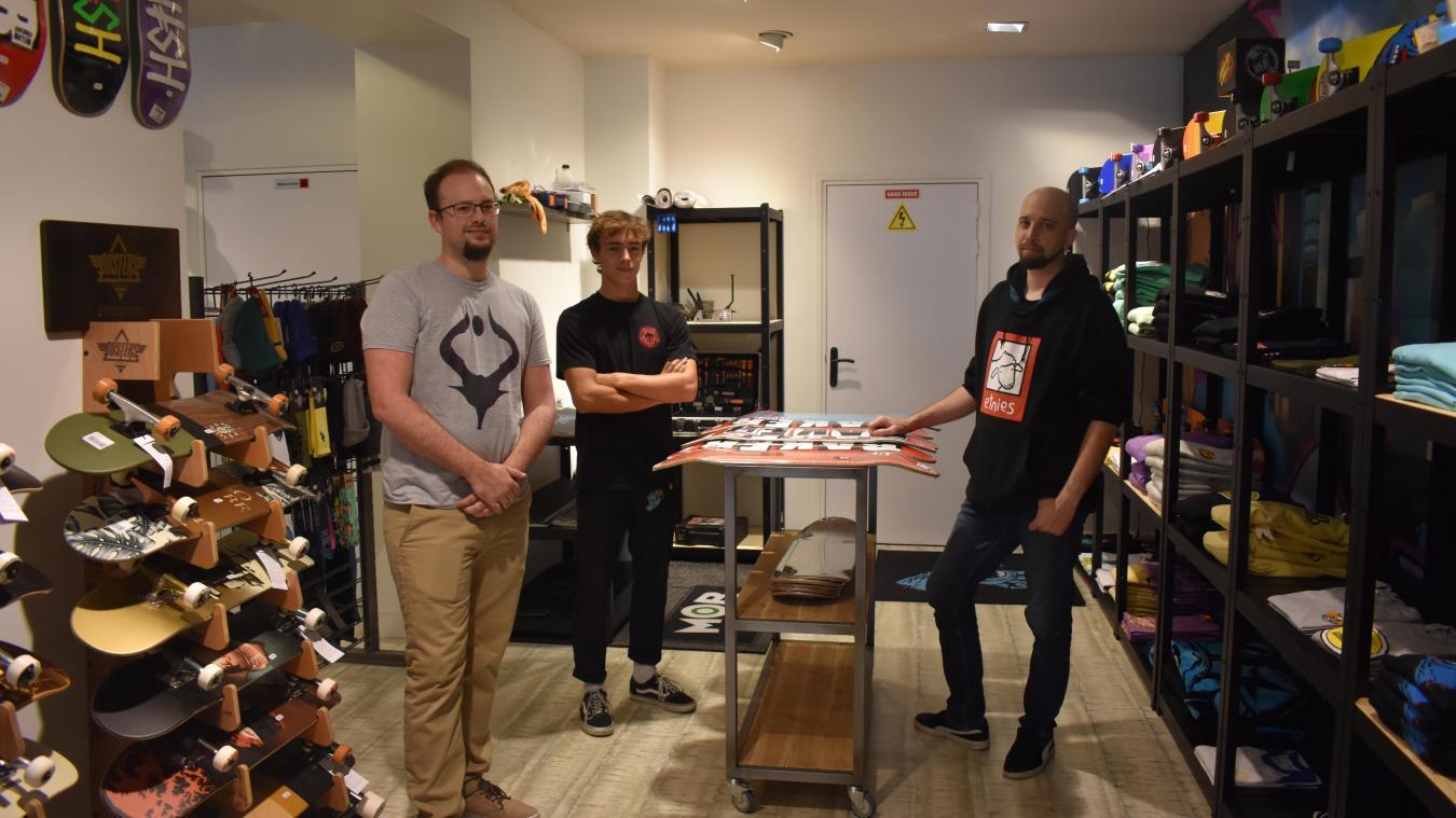Kévyn, Hugo et Manuel ont ouvert l'enseigne jeudi 24 septembre.