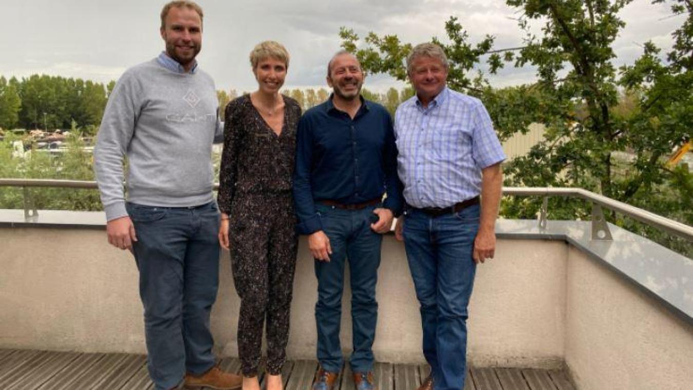 De gauche à droite : Jean-Baptiste Poissonnier, Caroline Poissonnier, Laurent Delannoy, Alain Delannoy.