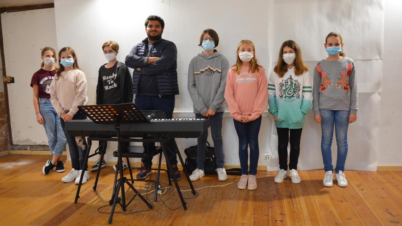 Près de quinze enfants suivent en ce moment les cours de Karim Affreingue.