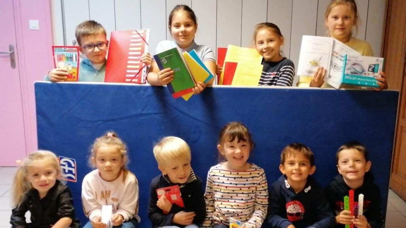 190 élèves de l'école Saint-Pierre ont bénéficié de fournitures scolaires gratuitement.