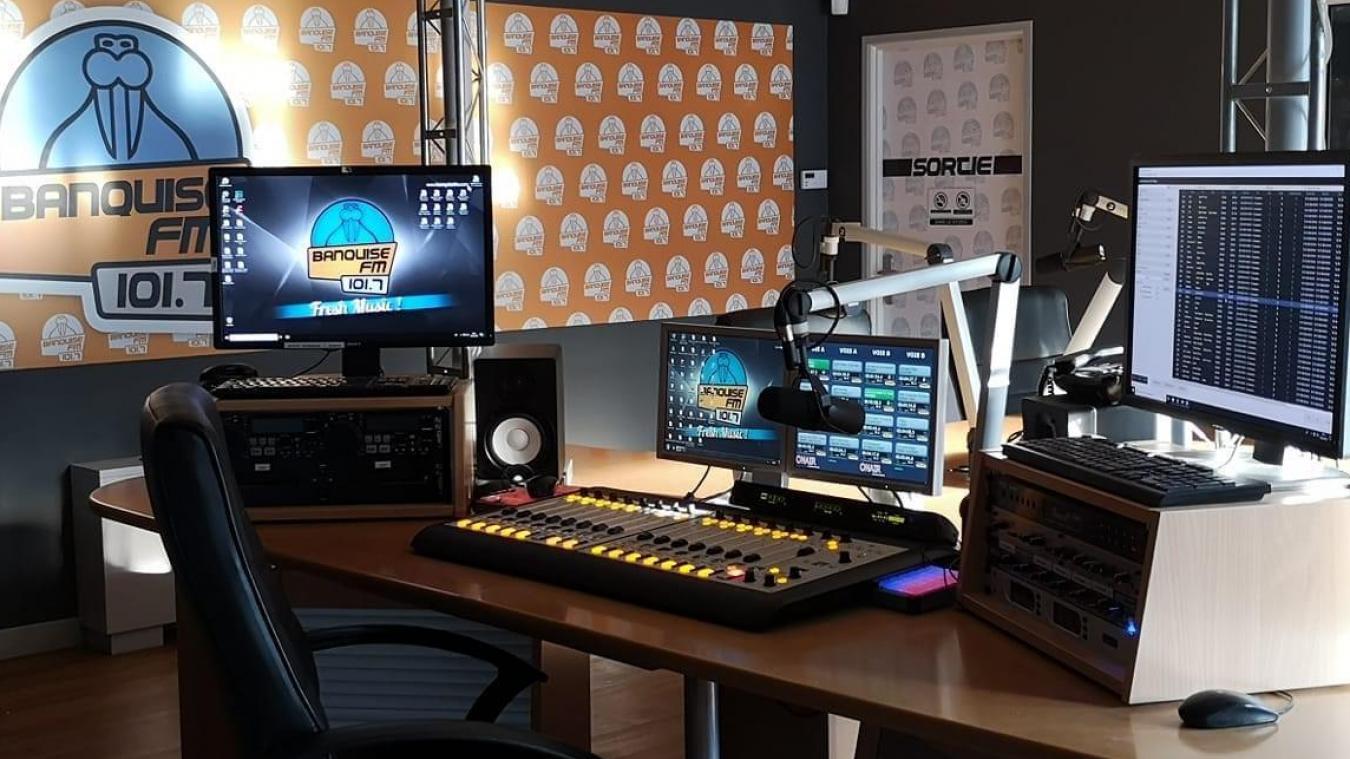 Les studios de Banquise FM à Isbergues.