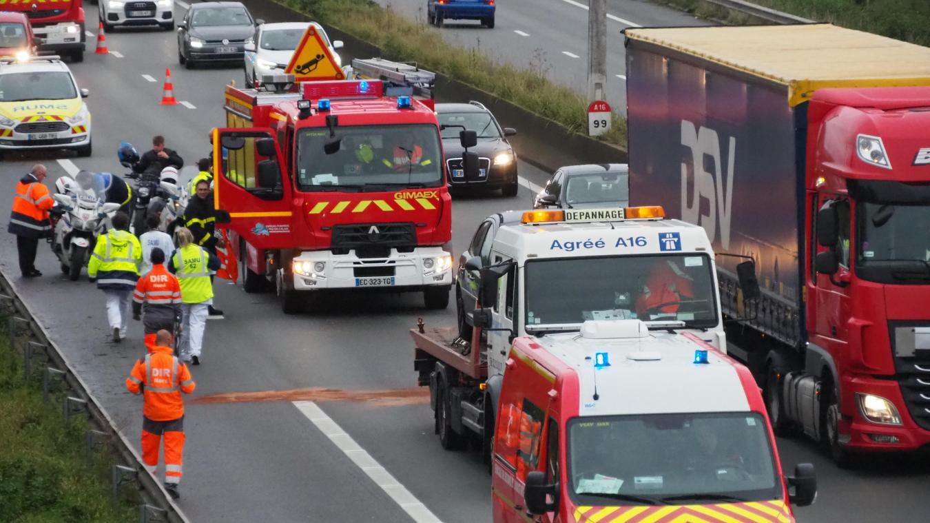 L'accident a causé un ralentissement sur plusieurs centaines de mètres.