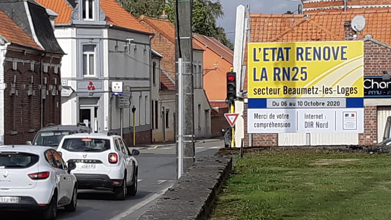 Entre Arras et Amiens, circulation alternée sur la RN 25 à Beaumetz-lès-Loges