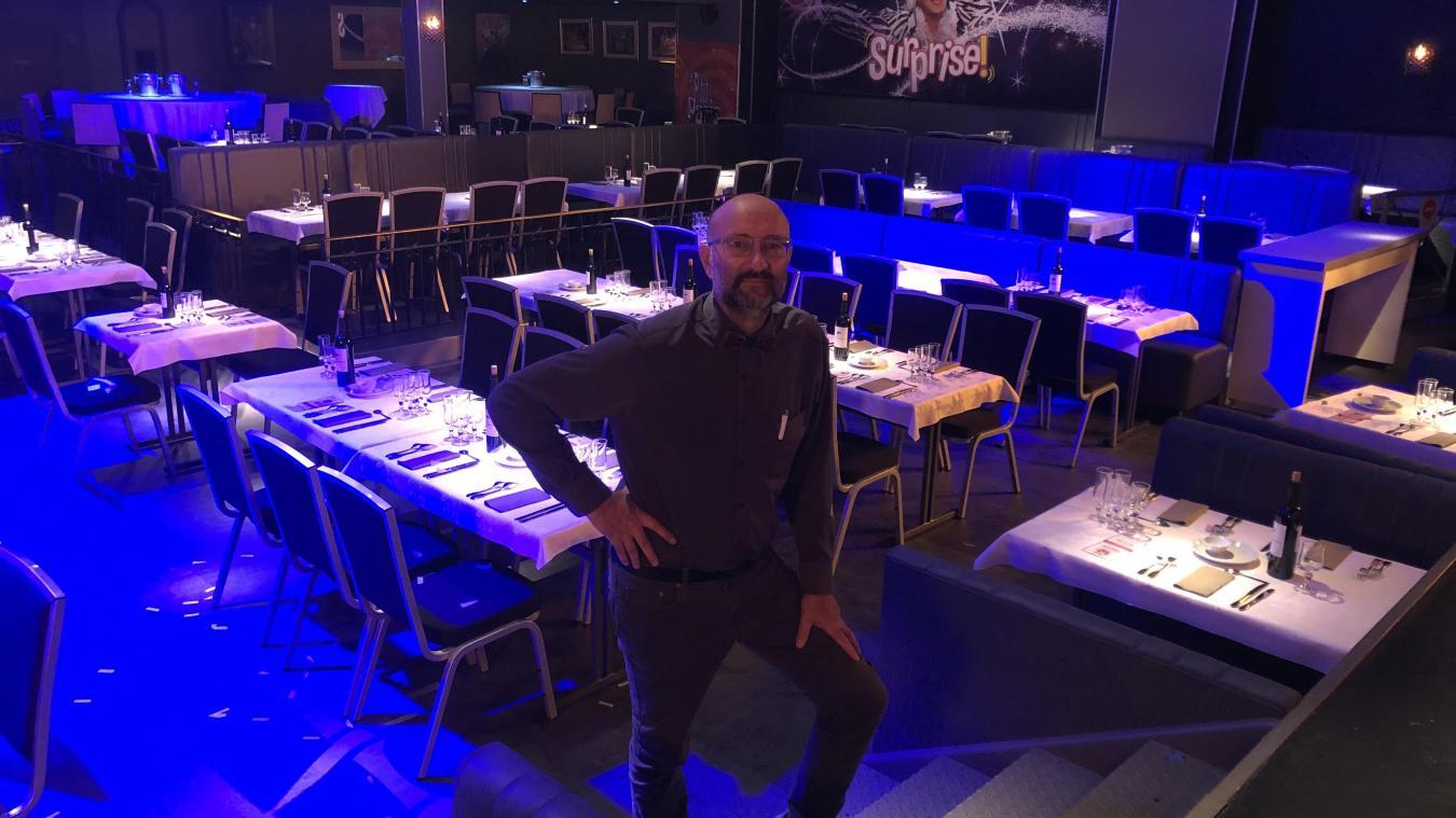 Patrice Chevalier est à la tête du Grand Cabaret à Vieux-Berquin depuis 20 ans. Le lieu est rouvert depuis début septembre sous certaines conditions.