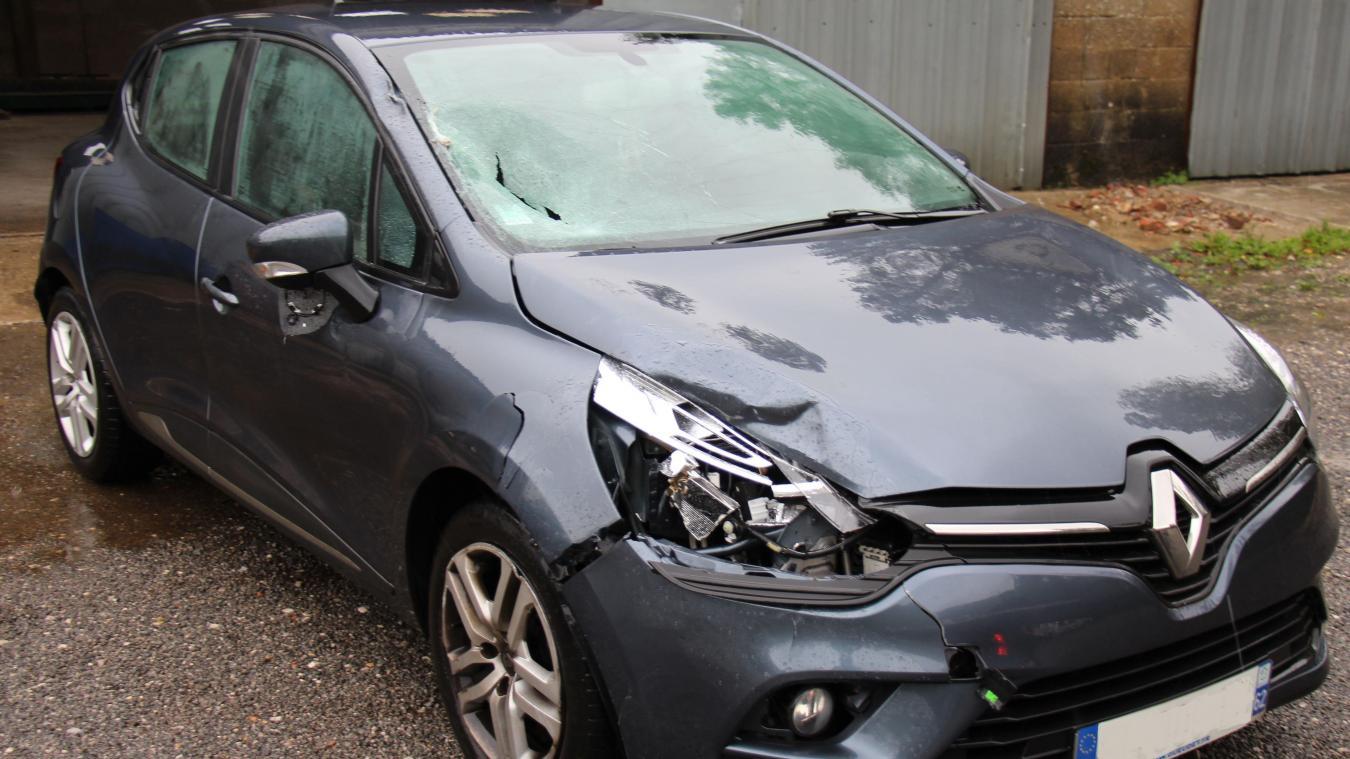 Le choc a été violent. La victime a été blessée à la tête et la jambe. Le conducteur a lui aussi été pris en charge par les secours.