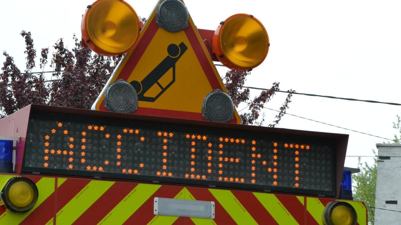 Un accident s'est produit vers 18h30 sur l'A16, une conductrice a perdu le contrôle de son véhicule, alors qu'une averse traversait le Boulonnais.