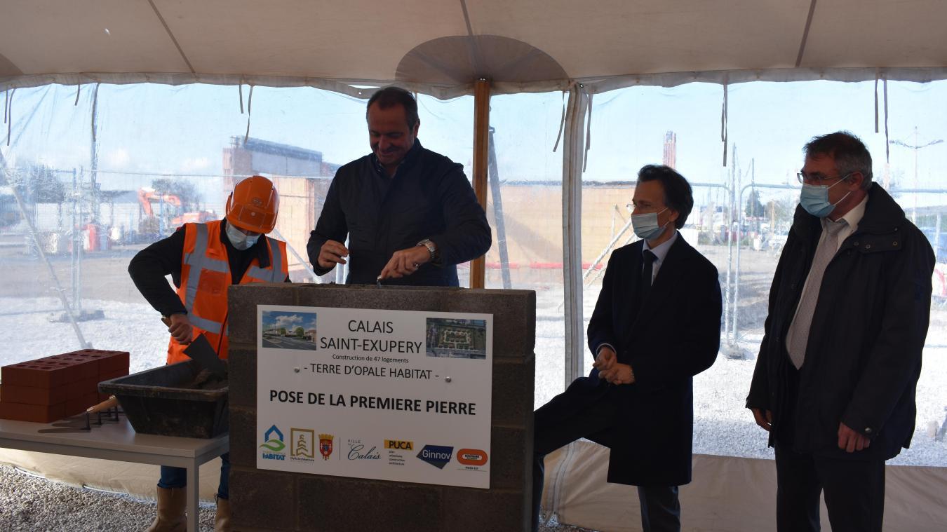 Le directeur général Hans Ryckeboer, le président Emmanuel Agius et le secrétaire permanent du Puca, Pascal Lemonnier, ont procédé à l'acte inaugural.