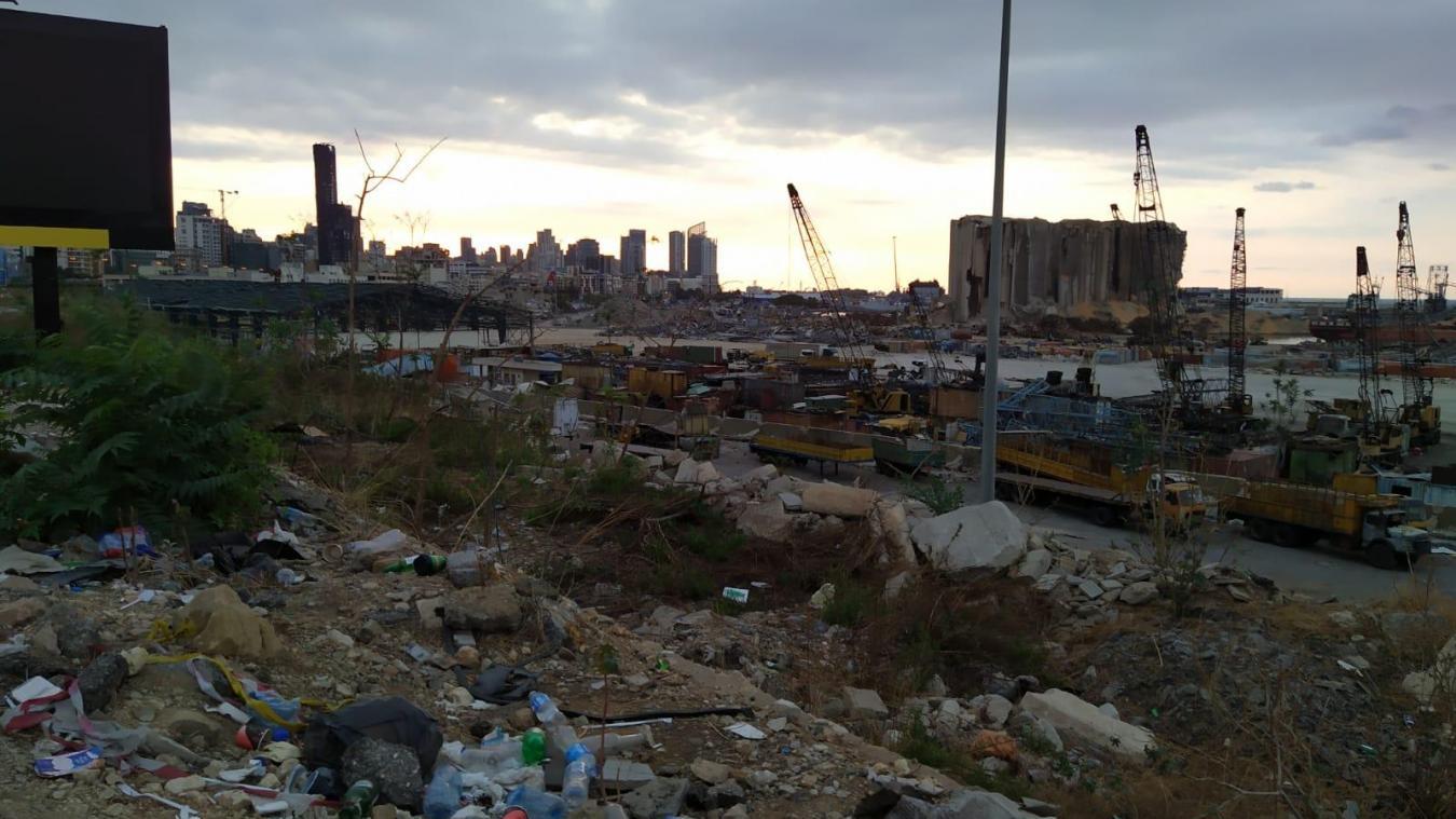 Le quartier du port de Beyrouth totalement sinistré depuis l'explosion début août.