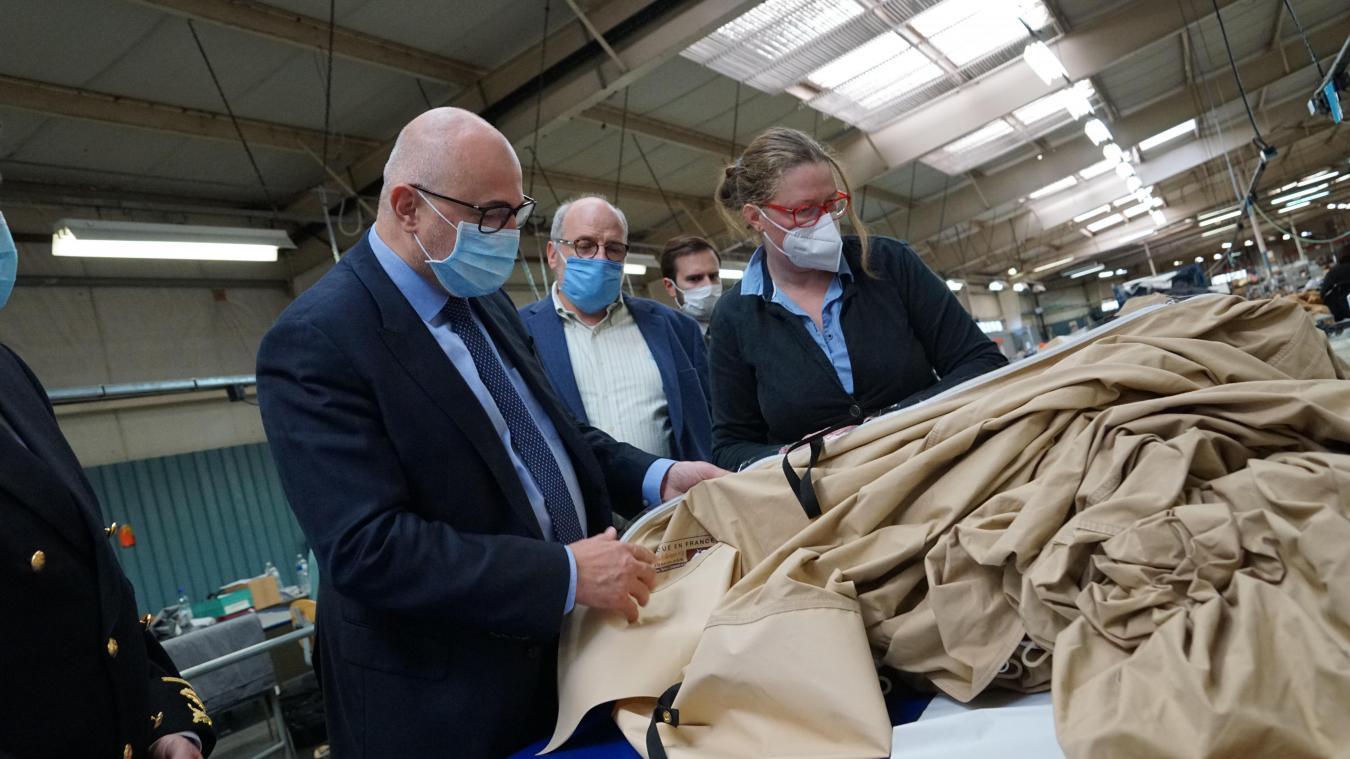 Le secrétaire d'État a visité la manufacture de Petite-Synthe pendant plus d'une heure.