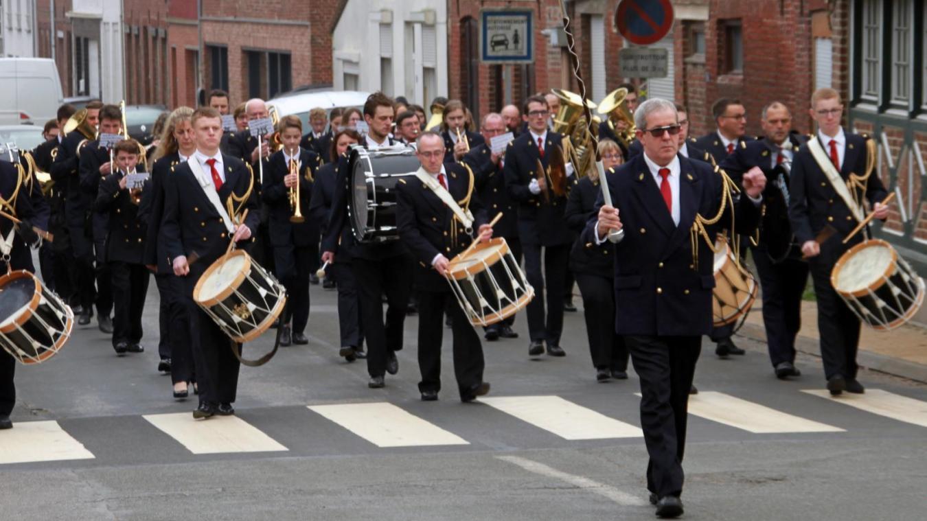 Les musiciens de Bollezeele lors de leur fête de la Sainte-Cécile.
