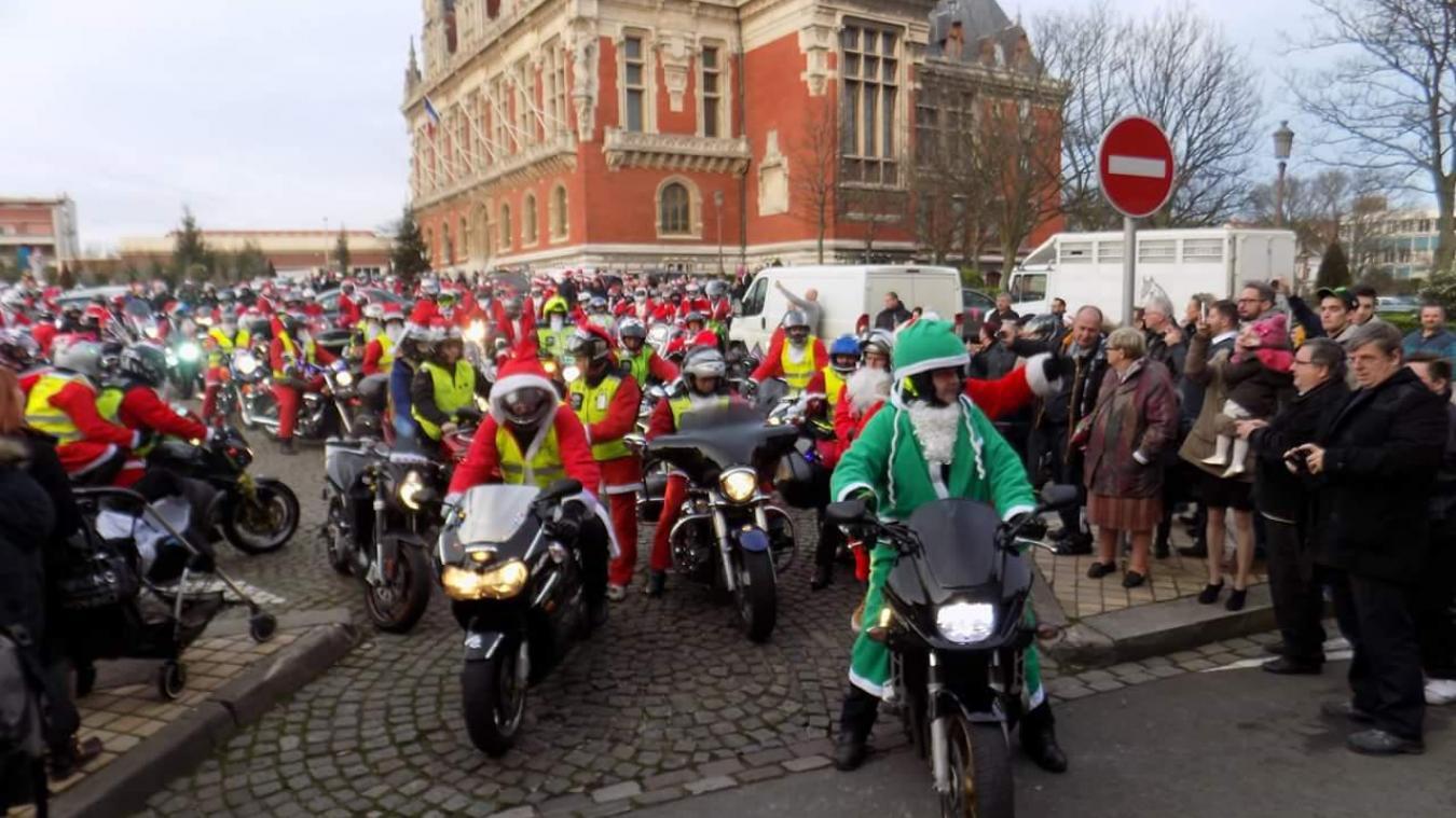 Calais : le défilé des Pères Noël à moto annulé mais la collecte de jouets aura bien lieu