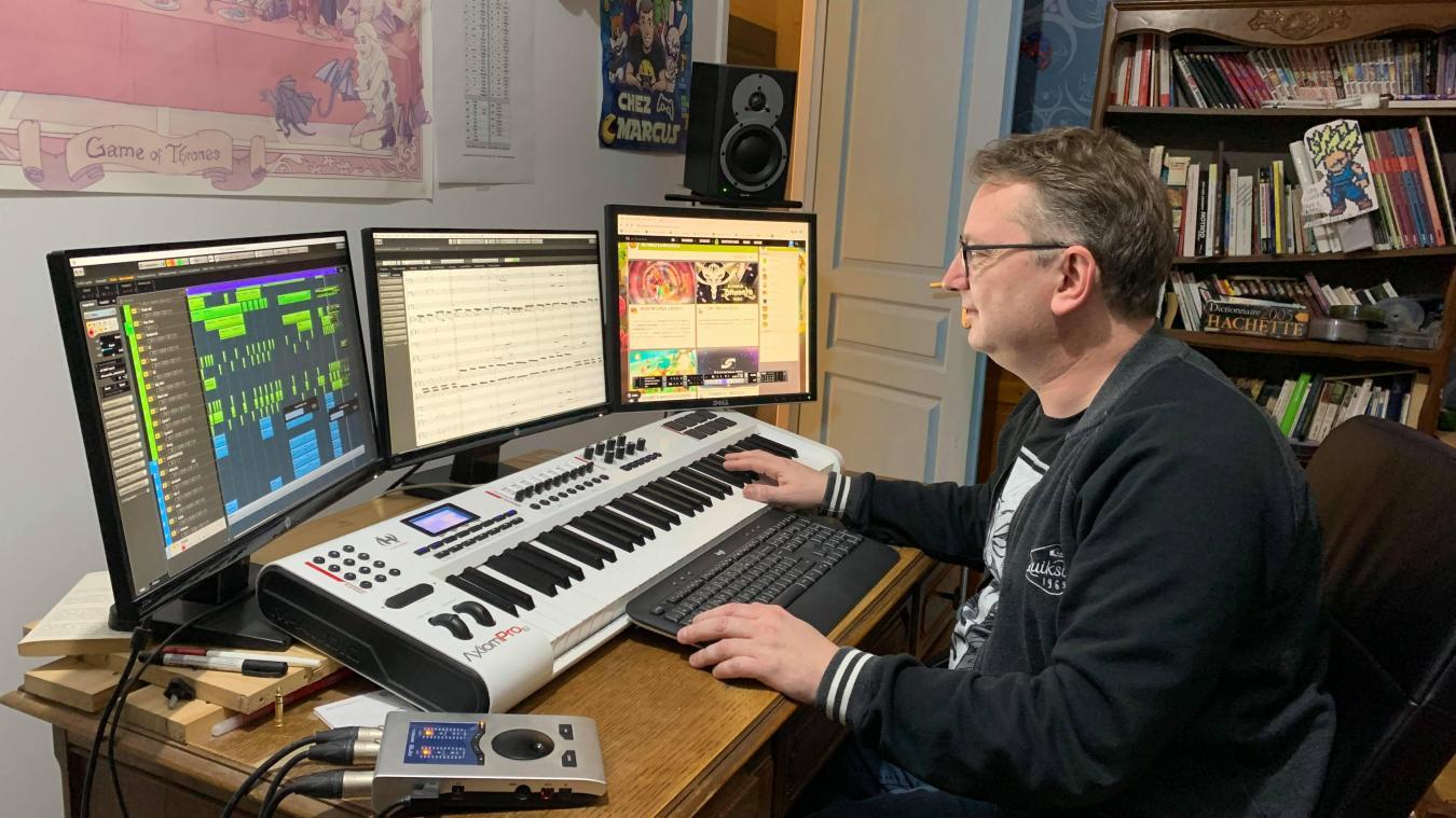 Guillaume Pladys compose les musiques du jeu Dofus depuis plus de quinze ans.