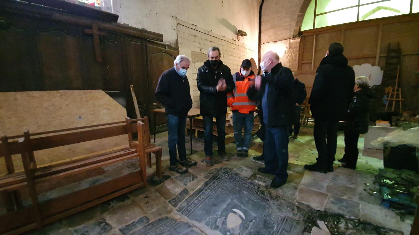 Le choeur de l'église est innaccessible au public depuis son effondrement, en 1986. La rénovation lui permettra de revivre.