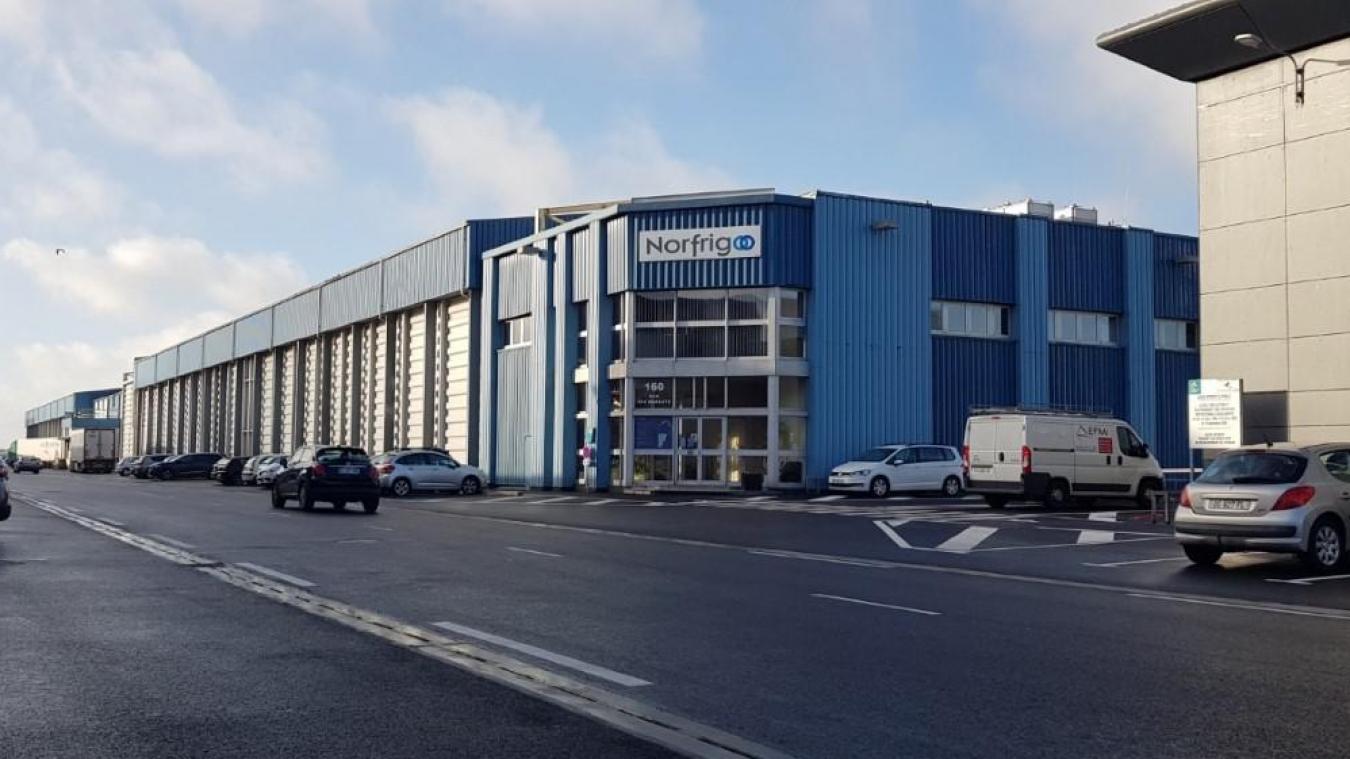 L'accident s'est produit vers midi face à l'entreprise Norfrigo à Capécure.