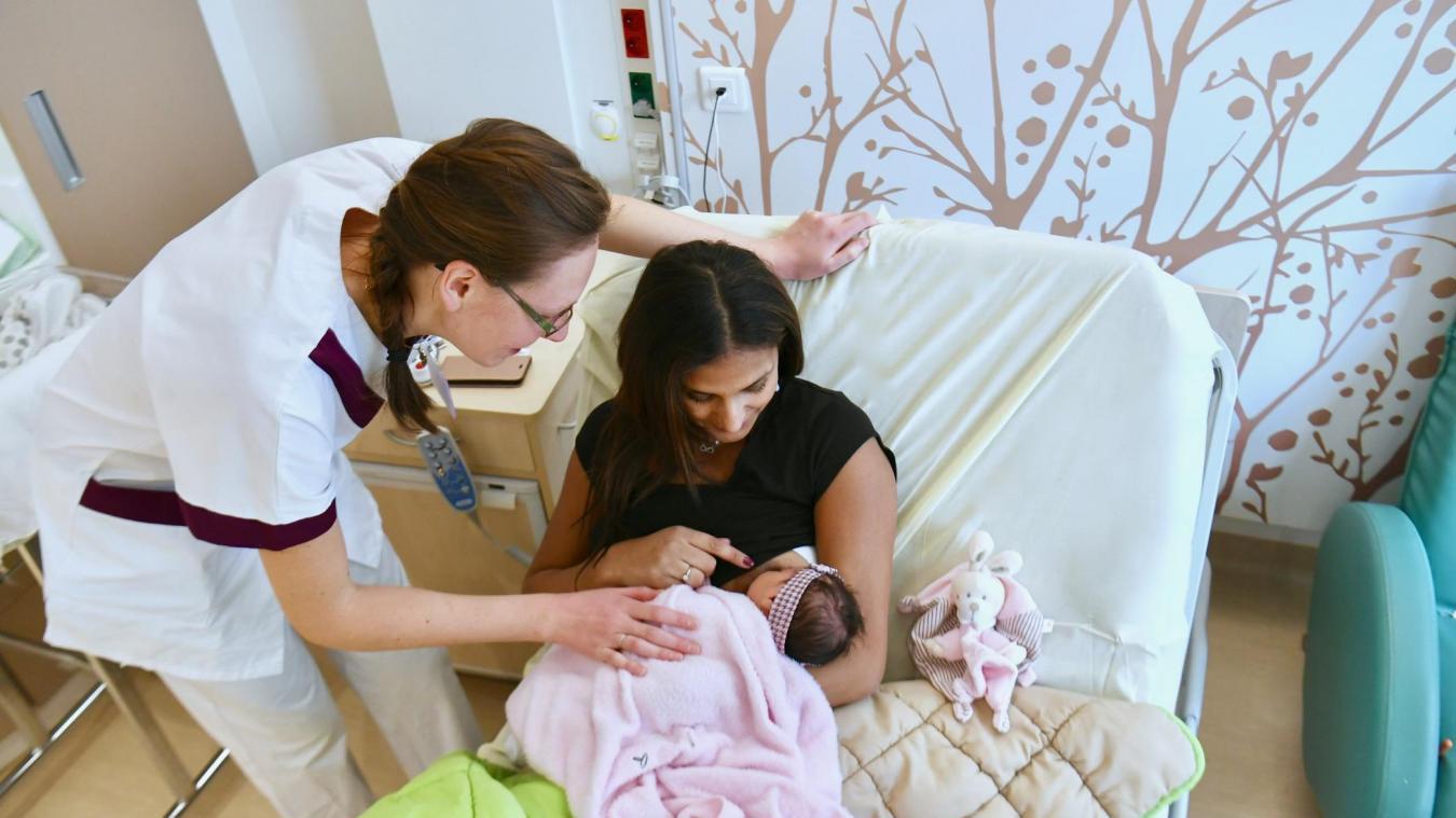 Parmi les données que l'hôpital souhaite améliorer, le taux d'allaitement maternel à la sortie de la maternité, qui n'était que de 54% en 2018.