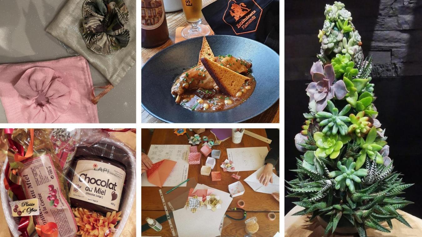 Accessoires, gourmandises, ateliers créatifs ou compositions florales, le choix est encore difficile...