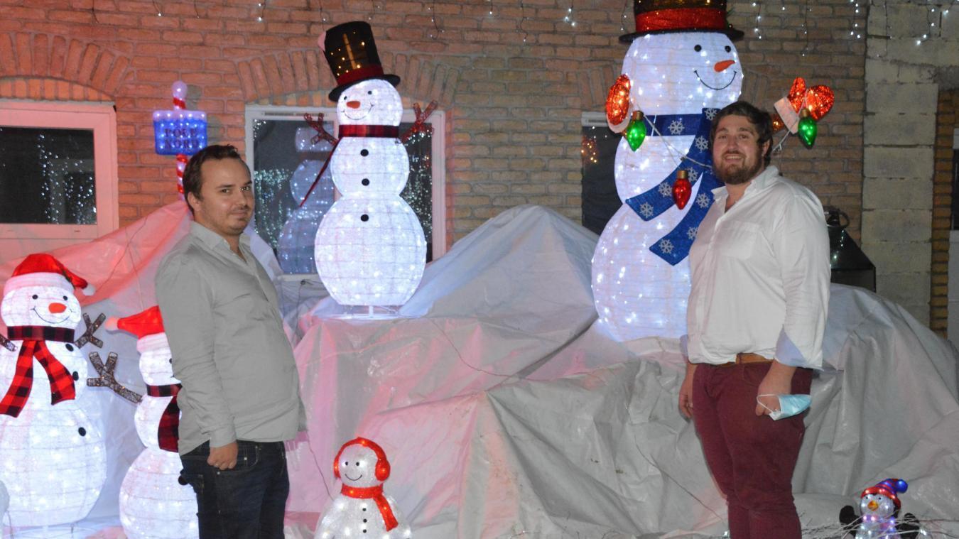Père Noël, bonhomme de neige, crèche... Tout est en place !