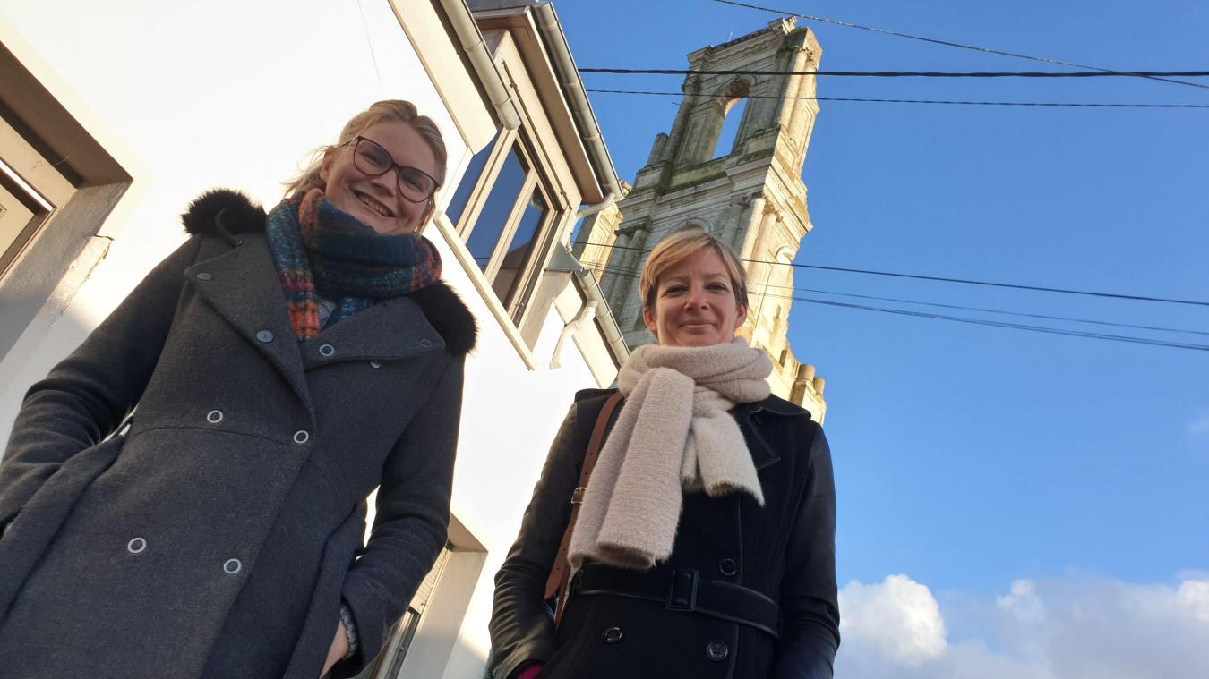 Clémentine et Johanna ouvriront leur commerce dans cette maison au pied des Tours.