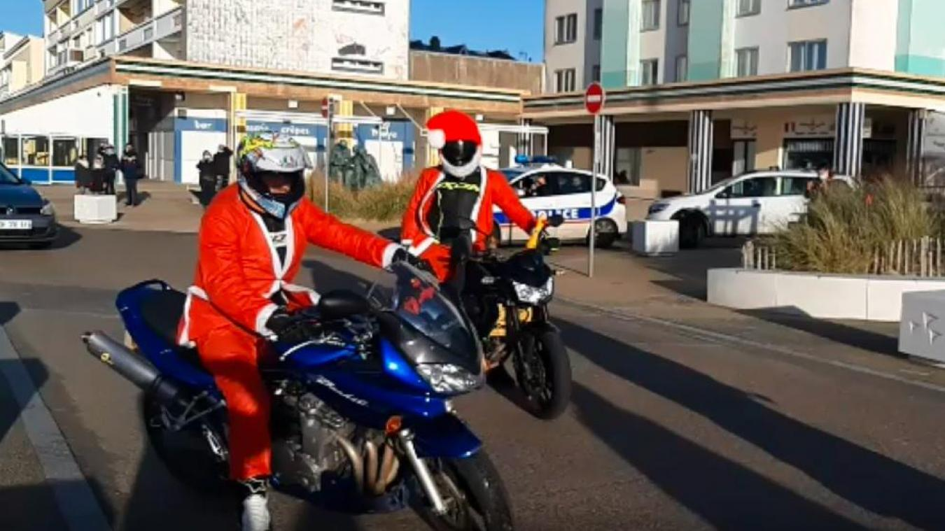 Côte d'Opale : le gang des Père Noël en balade (vidéo)