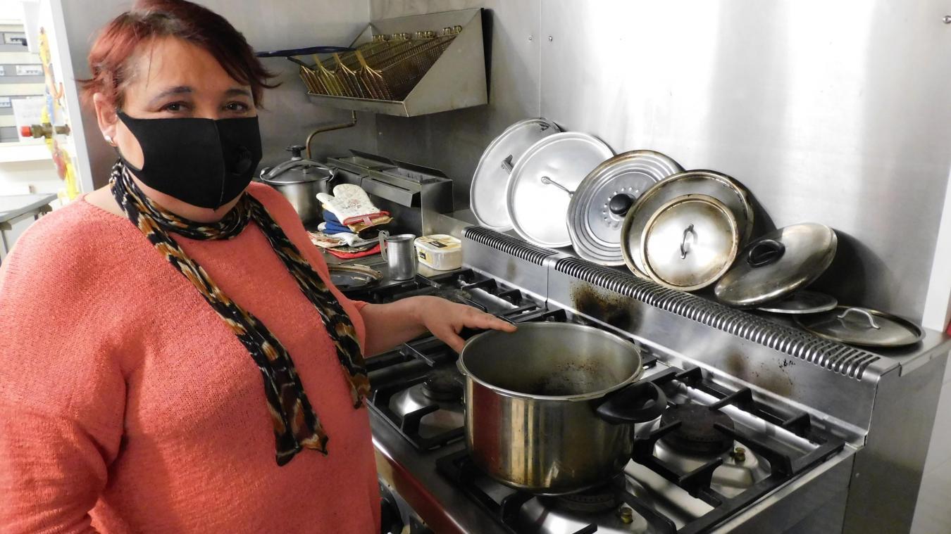 Valérie Descamps n'envisage même pas de quitter sa cuisine.
