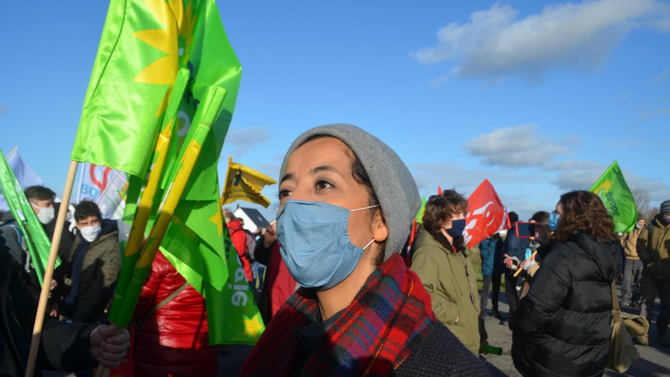 Karima Delli, députée européenne et cheffe de file des écologistes aux prochaines régionales faisait partie de la manifestation.