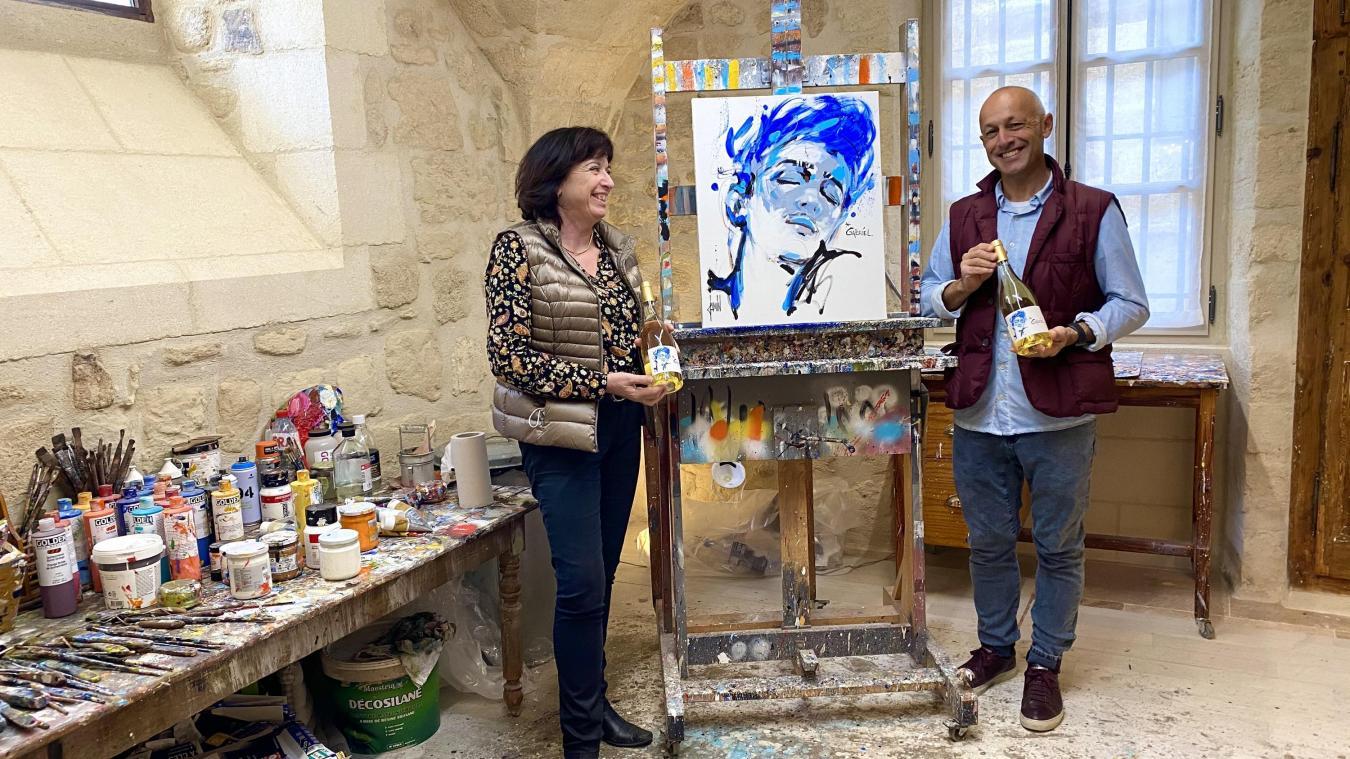 D'une belle rencontre entre la vigneronne et le peintre est né le projet pour la Cuvée Gabriel