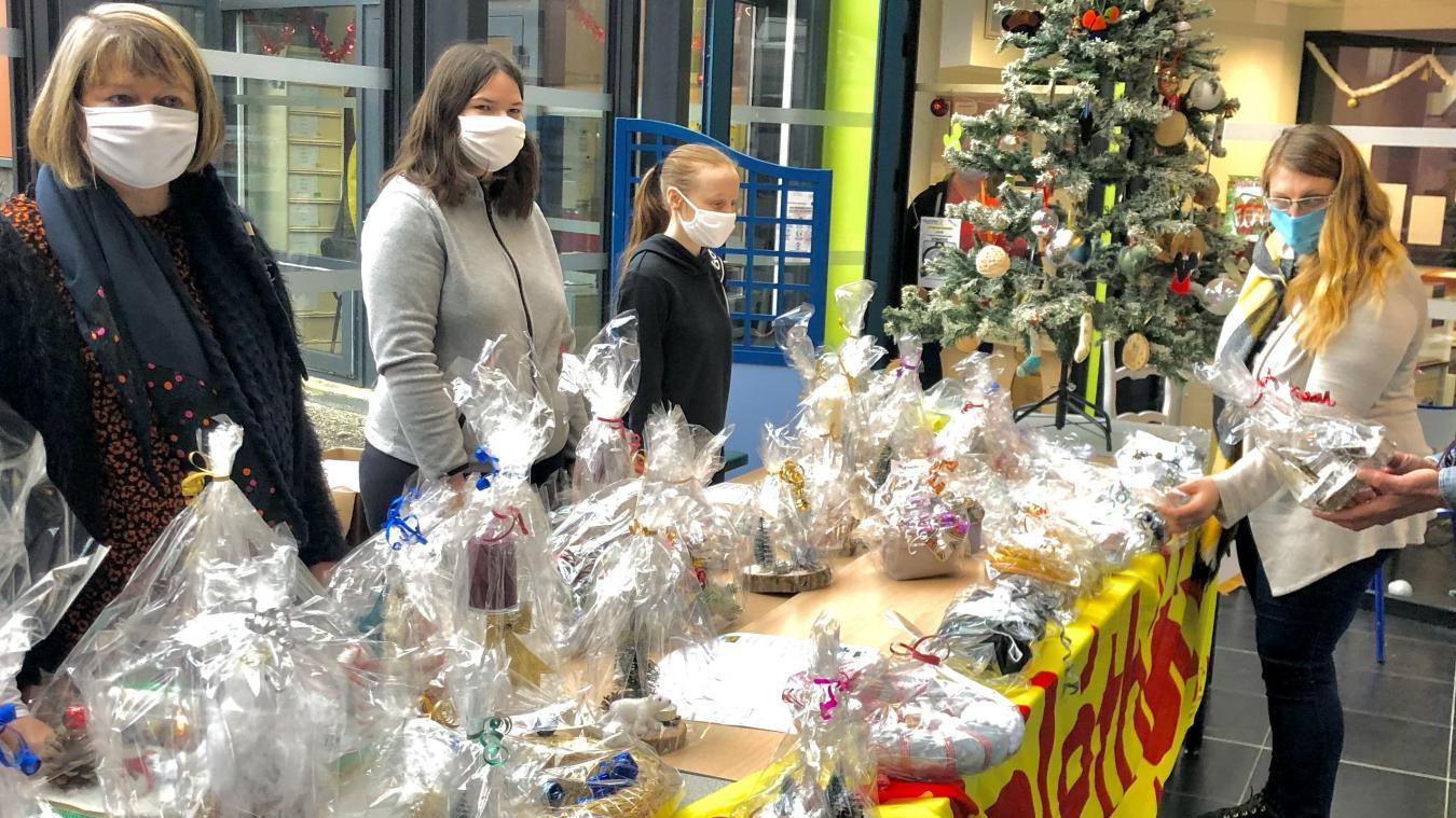 Bully-les-Mines: Un marché de Noël pendant la récréation au lycée