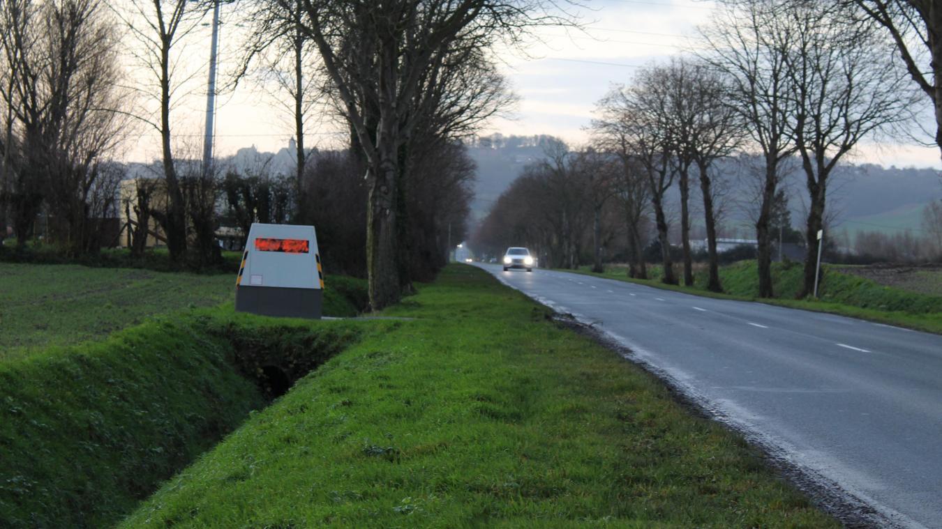 Le radar, situé entre Hardifort et Wormhout, a été tagué le mercredi 16 décembre, après deux jours de mise en service.