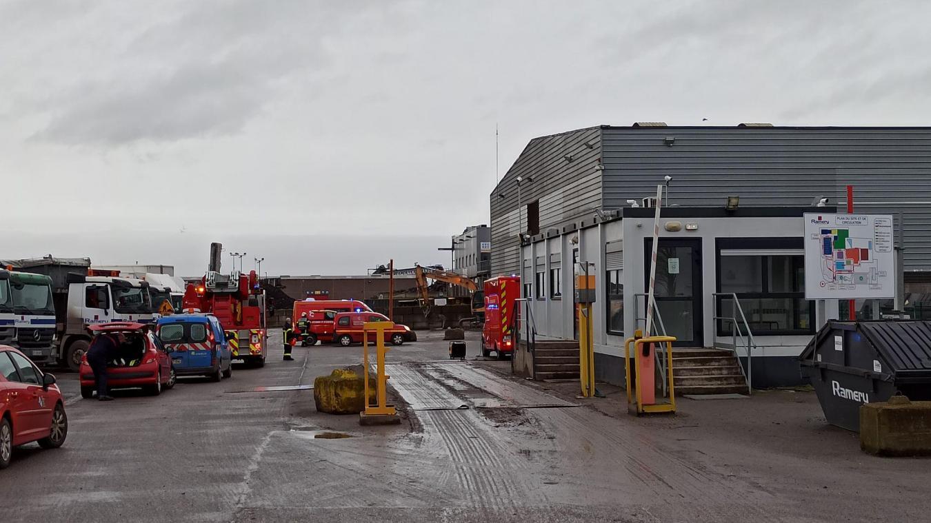 Harnes: les pompiers interviennent pour un départ de feu à l'entreprise Ramery