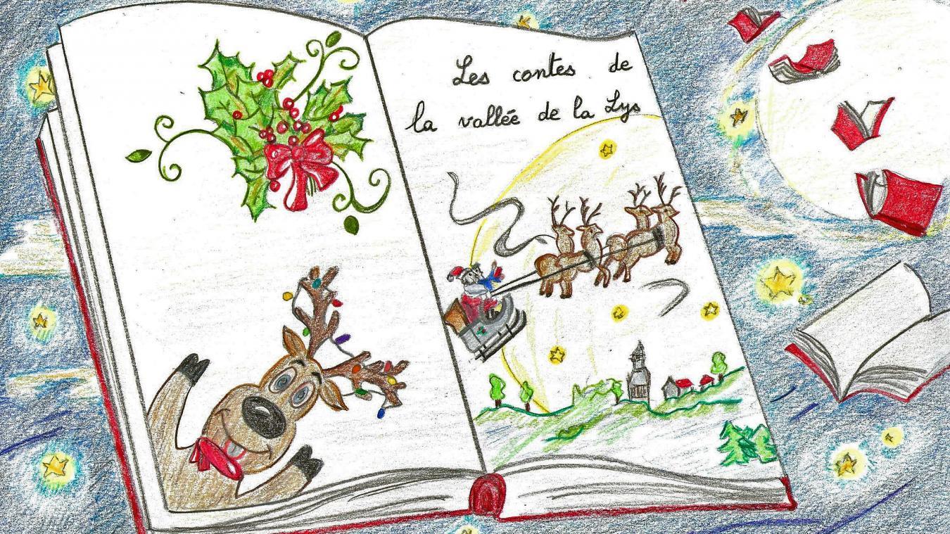 Laurence Lips a illustré l'histoire de Noël de Daniel Granval, Sur un traîneau porté par le vent.