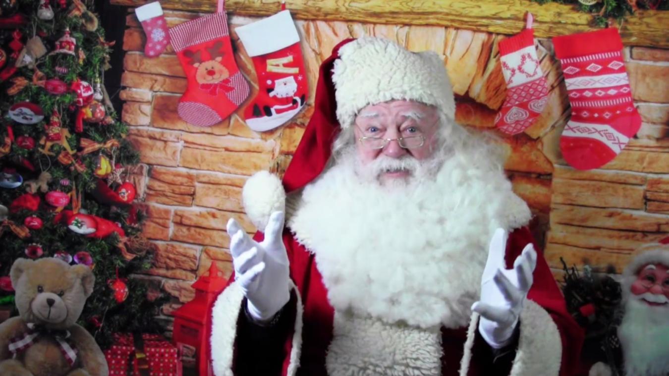 En cette année particulière, le Père Noël a opté pour la visio-conférence pour s'adresser aux enfants des hôpitaux de Berck.